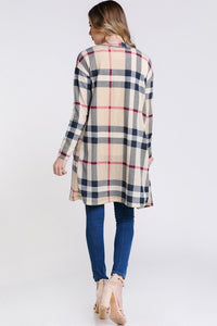 Olivia Tartan Plaid Long Cardigan