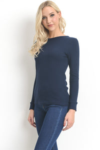 Polly Long Sleeve Black Tee
