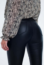 Load image into Gallery viewer, Q2 Black Vegan Leather Pants