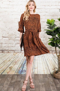 Liv Rust Leopard Dress