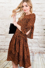 Load image into Gallery viewer, Liv Rust Leopard Dress