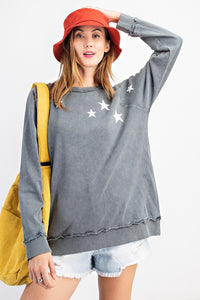Starry Eyed Top in Smoke