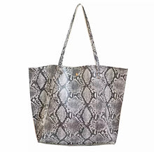 Load image into Gallery viewer, Snakeskin Tote