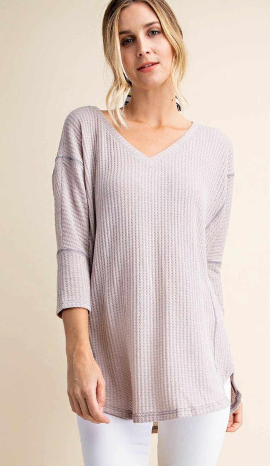 Aurora Knit V-Neck Top