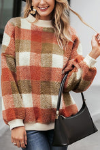 Load image into Gallery viewer, Falling for You Plaid Sweater