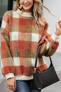 Falling for You Plaid Sweater