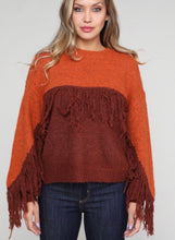 Load image into Gallery viewer, Rusty Fringe Sweater