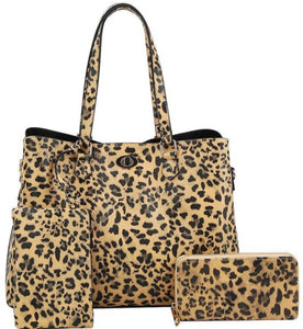 3 in 1 leopard satchel