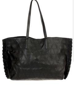 Geometric tote bag-black