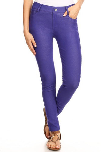 Yelete Jeggings in Royal Purple