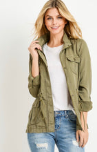 Load image into Gallery viewer, Olive lightweight Jacket
