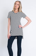 Load image into Gallery viewer, Ivory and Navy Striped Tunic