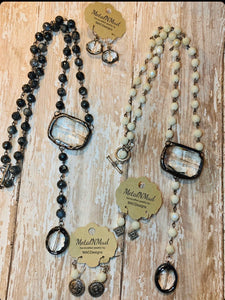 MAC Grey/Black Y Necklace