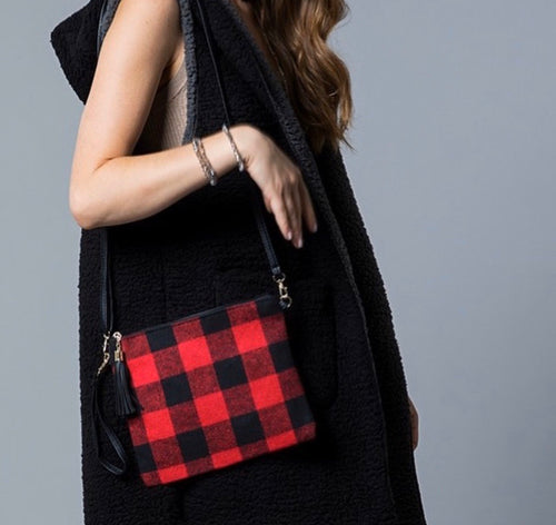 Flannel Crossbody Purse