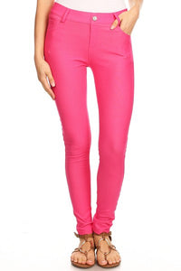 Yelete Jeggings in Fuschia