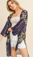 Load image into Gallery viewer, Navy Floral Kimono