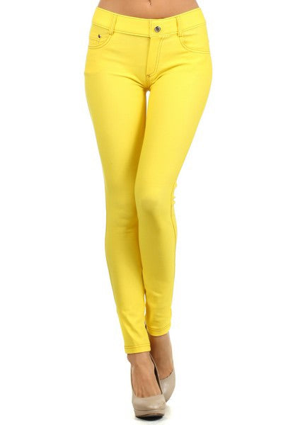 Yelete Jeggings in Canary Yellow
