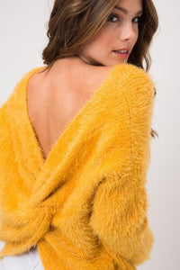 Melissa Twisted Fuzzy Sweater