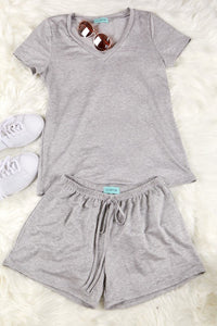 Soft Gray Shorts Set