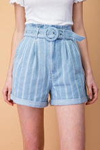 Load image into Gallery viewer, High waisted Grid Print Shorts