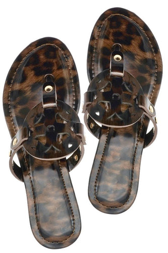 Tortoise Fancy Flip Flop Sandals