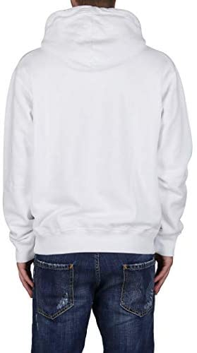 Sweat Homme à capuche mode luxe icon blanc Dsquared2 - amazing deal 4 you