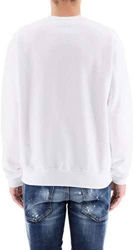 Sweat Homme luxe coton blanc icon Dsquared2