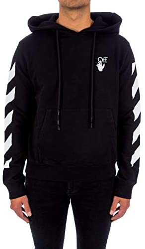 Sweat Homme à capuche luxe coton noir Off-White - amazing deal 4 you