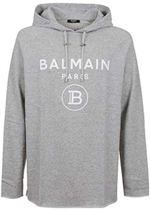 Sweat Homme à capuche luxe gris Balmain - amazing deal 4 you
