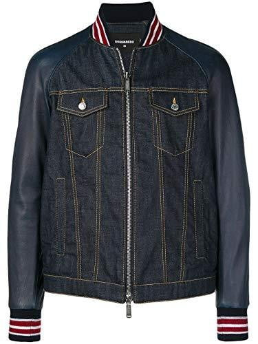 Veste Homme Dsquared2 jeans cuir  Bleu - amazing deal 4 you