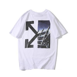 T-Shirt Femme blanc été design urbain Off-White - amazing deal 4 you