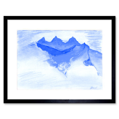 "Poster ""Himalayan Landscape in blue"""