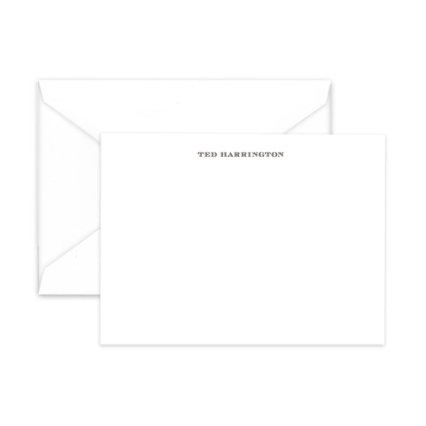 CUSTOM ENGRAVED NOTE CARDS