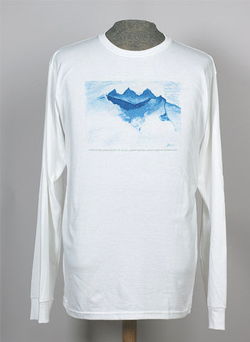 Himalayan Landscape in Blue, Ltd edition t-shirts