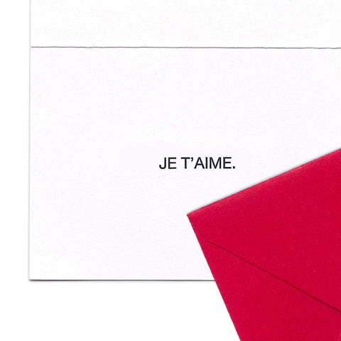 JE T'AIME Gift Enclosure