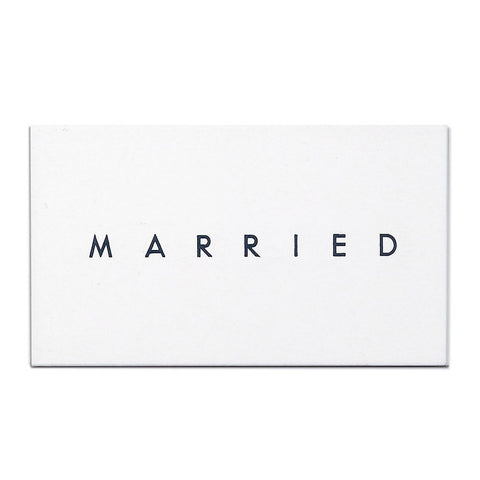 MARRIED/ENGAGED Calling Card