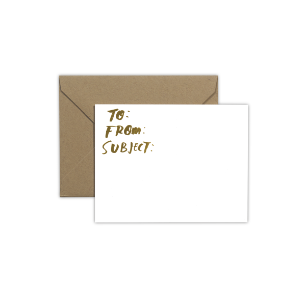 "Samantha Hahn x Terrapin Stationers: ""Email"" Note Card Single"