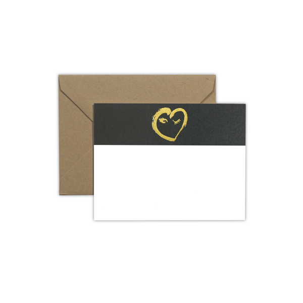 Samantha Hahn x Terrapin Stationers: Winking Heart Note Card Set