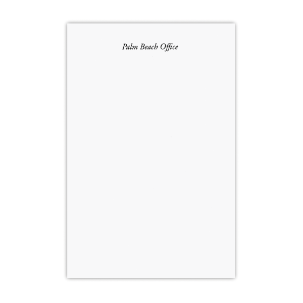 PALM BEACH OFFICE Notepad