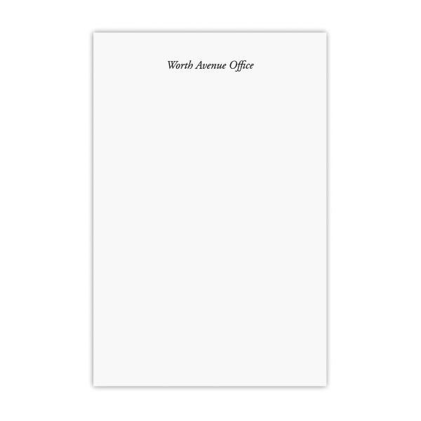 WORTH AVENUE OFFICE Notepad