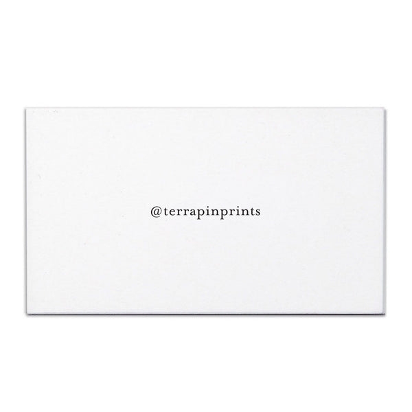 CUSTOM TWITTER HANDLE CALLING CARDS