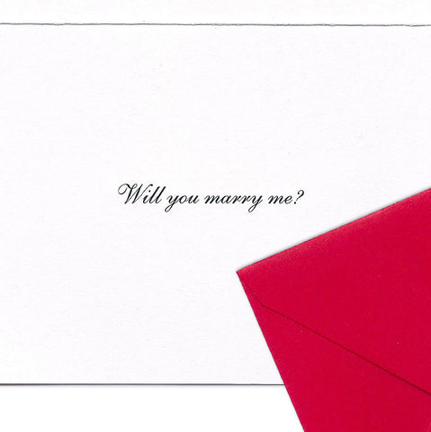 WILL YOU MARRY ME? Gift Enclosure