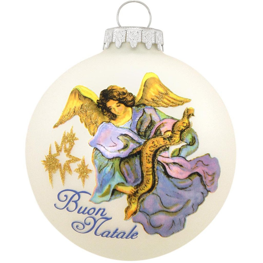 Christmas Angel Glass Ball Ornament