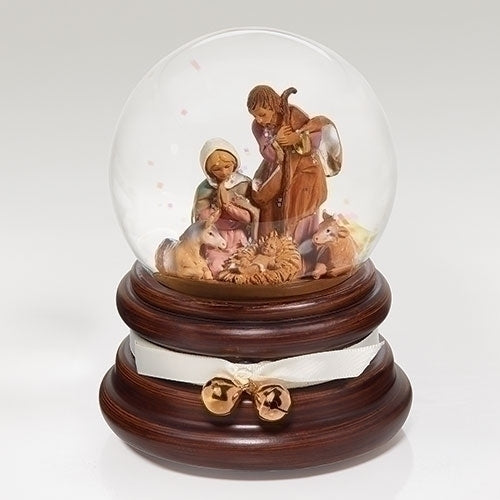"Fontanini 6"" Musical Nativity Dome. Wind up. Plays ""It Came Upon A Midnight Clear"" #59096"