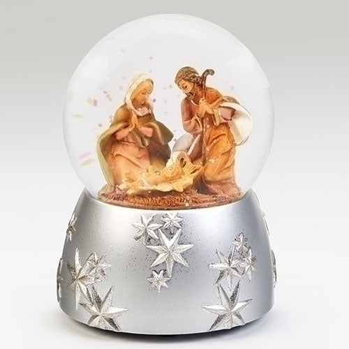 "Fontanini 6"" H Musical Nativity Scene Wind Up Glitter Dome Plays ""Joy to The World"" #59098"