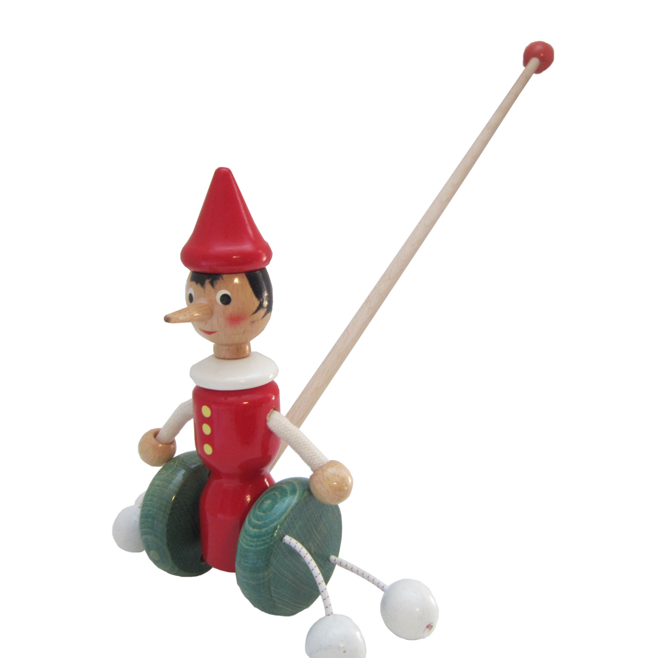 Pinocchio Push Toy with Wheels