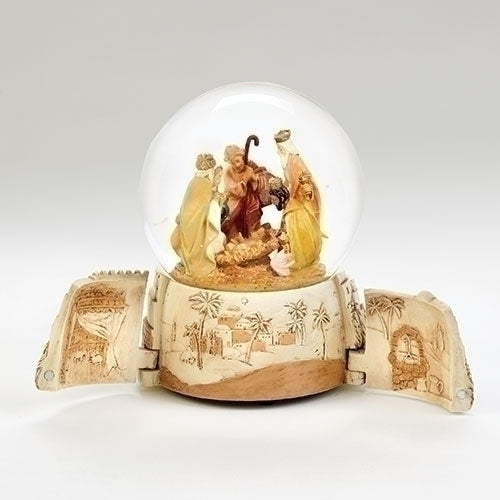 "Fontanini - 7.5"" Musical Holy Family Dome. Plays ""O Little Town of Bethlehem"" #59097"