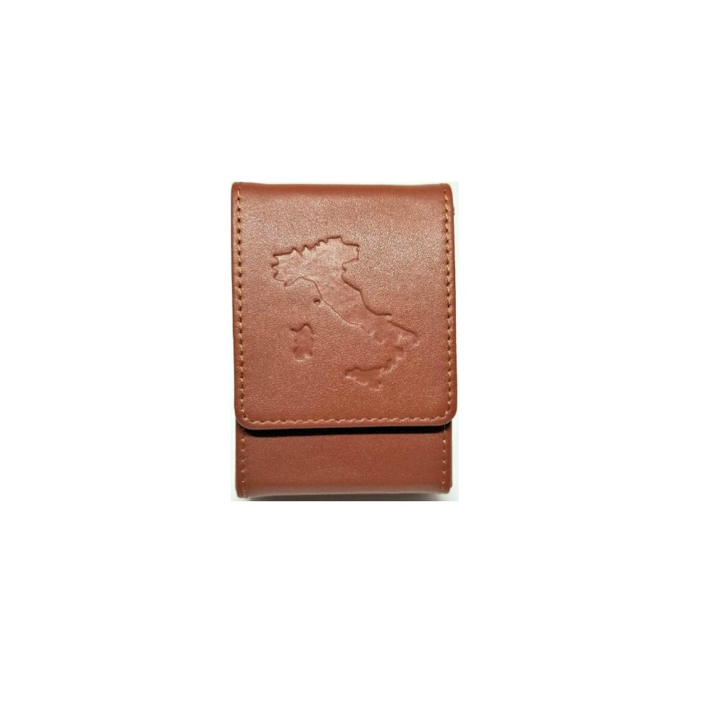 "Genuine Leather Card Case + FREE Deck of ""Italy"" Cards"