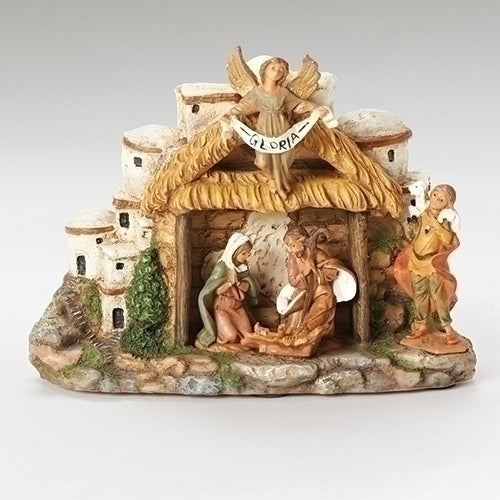 Fontanini Musical Nativity Stable with Village #58707