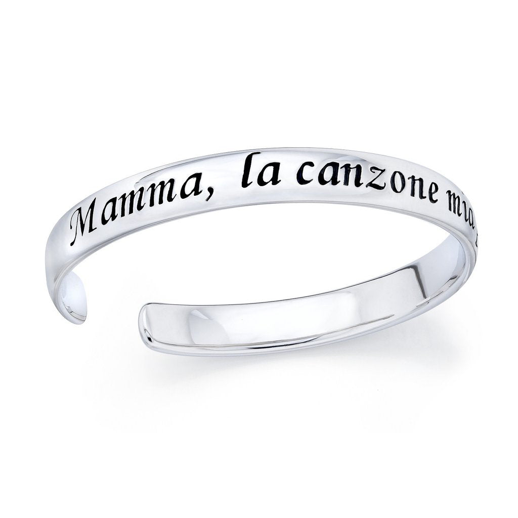 """Mamma"" .925 sterling silver cuff bracelet (Only five left!!)"